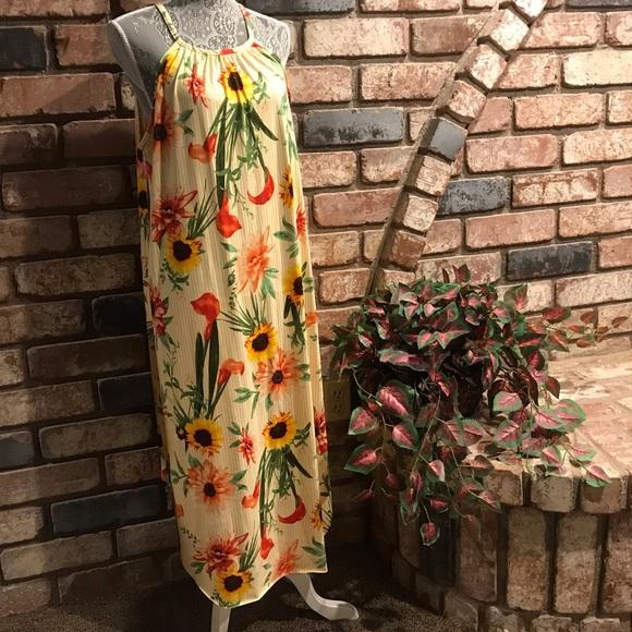 MRT 1030 Dresses & Skirts - MRT 1030 floral sunflower summery dress